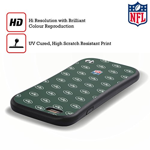 Ufficiale NFL LED 2017/18 New York Jets Logo Case Ibrida per Apple iPhone 6 Plus / 6s Plus Pattern