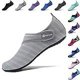 VIFUUR Sport Nautique Chaussures Femmes Hommes Réglable Mesh en Plein Air Pieds Nus Aqua Yoga Chaussettes pour La Plage en Plein...