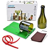 AGPTEK Kit de cortador de botellas de vidrio,Cortador de botellas, Bricolaje Juego de cortadores de vidrio, DIY Glass Bottle Cutter de vino y botellas de cerveza Herramienta de corte