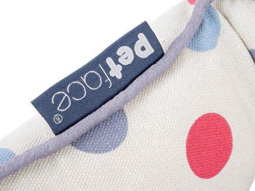 Petface Polka Dots Print Oval Dog Bed, Cream, Medium 4