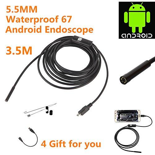 2.0 Megapixel CMOS HD USB Endoskop Kamera,Electro-weideworld 6 Einstellbare LED Wasserdichtes Endoskop Inspektions kamera Rohr Boroskop für Android Samartphone mit OTG und UVC-Funktion - 3.5M Kabel (Hd 720 Camcorder)