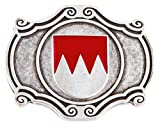 Veri Franken Buckles Fränkischer Rechen Gürtelschnalle Wappen rot silber für Trachtengürtel bis 4cm breit one size cm :
