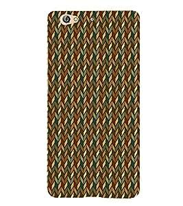 Fiobs Designer Back Case Cover for Gionee S6 (Multicolor Line Ethnic Design)