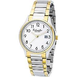 Eichmüller Premium Armbanduhr Bicolor Herrenuhr Quartz Miyota 2115 mit Datum und Uhrenbox