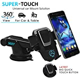 Able One Touch Car Mobile Holder - Premium (3RD Generation) Universal Mobile Holder For Car Dashboard, Car Windshield, Home & Office Table For Smartphones