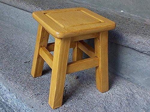 Quadratische Holzhocker Eiche Farbe -