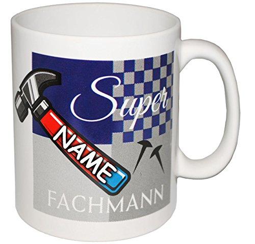 alles-meine GmbH 4 Stück _ Henkeltassen / Kaffeetassen -  Super Fachmann !  - inkl. Name - gr..