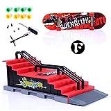 Griffbrett Skatepark, Finger Skateboard Rampen Mini DIY Finger Skate Boarding Ultimate Sport Training Stützen Spielzeug (F)