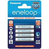 Eneloop BK-4MCCE/4BE–Pile rechargeable AAA 750mAh, Lot de 4
