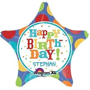 Amscan International 2446901 - Globos de papel de aluminio, diseño de la Fiebre del Cumpleaños