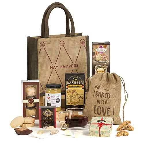 Hay hampers, il tè delle 5 - cesta regalo san valentino per lui o per lei con dolci tradizionali inglesi