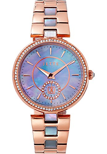 JETTE Time Damen-Armbanduhr Analog Quarz One Size, Perlmutt, rosé