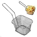 8 Stück Edelstahl Frittierkorb Frittierkörbchen Set Pommes, Schrimps, Tapas Mini Chip Serving Baskets Fryer