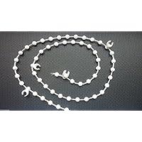 "White Bottom Chain for 127mm/5"" Vertical Blinds - 100 clips"