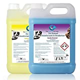 10L Of Antibacterial Disinfectant Cleaner For Pet Dogs Cats Kennel Cattery House 1x Candy & 1x Lemon