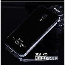 Carcasa Funda trasera de cristal templado para Meizu MX5 Negra y Gris