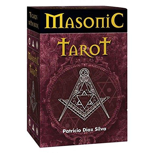 Masonic Tarot par Patricio Diaz Silva, 78 Cartes avec Instructions Multilingues et Boîte de Rangement