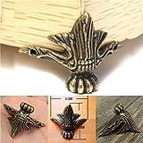 Yongse 4pcs Pecho antiguo de la joyería de latón de madera de la caja Pies decorativos de la pierna del metal protector de la esquina