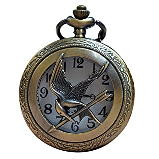 Ari_Mao Retrp Quartz Movement Pocket Watch with Chain (Eagle)