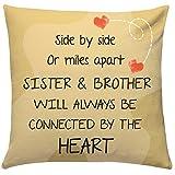 Best Bros Bracelets - Giftsbymeeta Bro Sis Love Cushion -Cushion with filler-12x12 Review