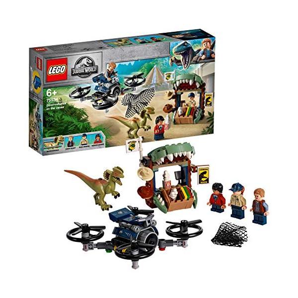 LEGO Jurassic World - Gioco per Bambini Dilofosauro in Fuga, Multicolore, 6250526 2 spesavip