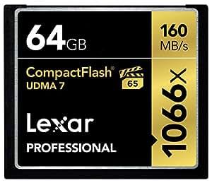 Lexar Professional 64GB 1066x Speed (160MB/s) UDMA 7 CompactFlash Memory Card