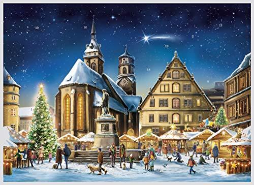 Adventskalender Stuttgart, von Sellmer Verlag, Papier-Adventskalender A3 - Stiftskirche Abbildung