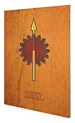 Pyramid International sw11391p Game of Thrones (Martell) murale en bois en bois Multicolore 40 x 2,5 x 59 cm