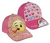 Pack 2 gorras de tela adaptables 2 diseños diferentes EMOJI rosa y naranja