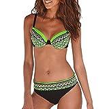 Maillot de Bain 2 Pièces Femmes,Bikini Set sans Bretelle Fashion Sexy Hot Stamp...