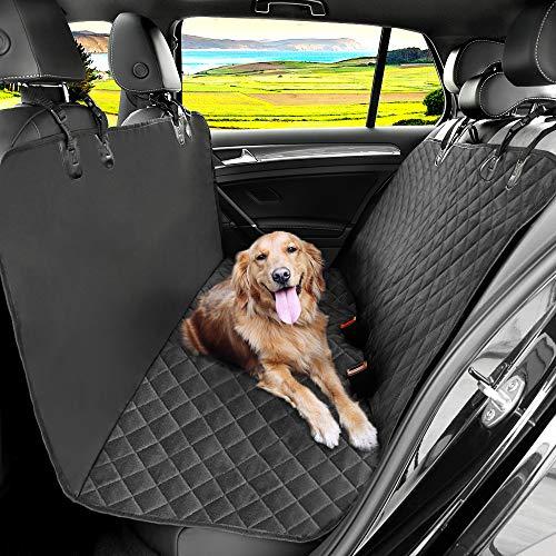 KYG Autoschondecke für Rückbank Kofferraum Wasserabweisende Schondecke für Hunde mit Sichergheitsgurt 148 * 136 cm robuste Hundedecke