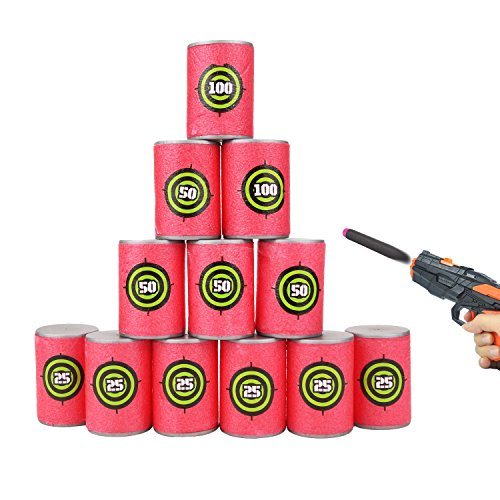 12 pezzi eva schiuma dardi target per nerf n-strike elite blasters