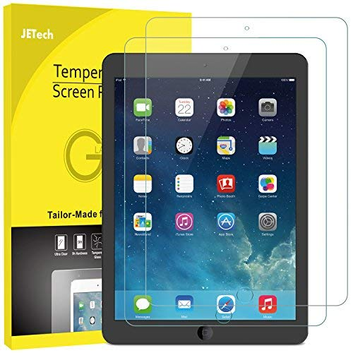 JETech Schutzfolie Kompatible mit iPad (9,7-Zoll, 2018/2017 Modell, 6./5.Generation), iPad Air 1, iPad Air 2, iPad Pro 9,7-Zoll, Gehärtetem Glas Displayschutzfolie, 2 Stücke (5. Ipad Generation)