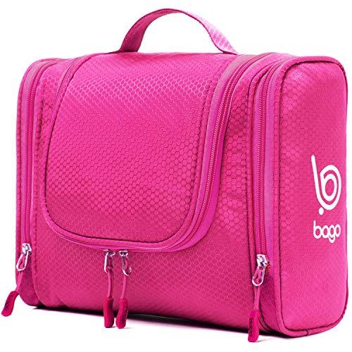 Bago Kulturbeutel/Dusch-Tasche für Reisen, Pflegeprodukte, Makeup und mehr (Rosa)