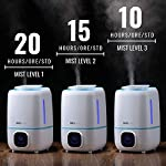 InnoBeta-Fountain-30L-Umidificatore-Ultrasuoni-per-Bambini-Silenzioso-Nebbia-Fredda-Display-LED-3-Uscite-di-Vapore-Silenzioso-Auto-Spegnimento-Timer-con-Telecomando-y-IgrometroFino-a-40