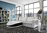 SAM® Sofa Garnitur weiß Doccia schwarzer Streifen 200 x 270