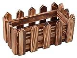 Outflower Cafe Holzdekoration, Massivholz, European Stil, Karbonisiert, Rectangle, 15*8.5*7cm