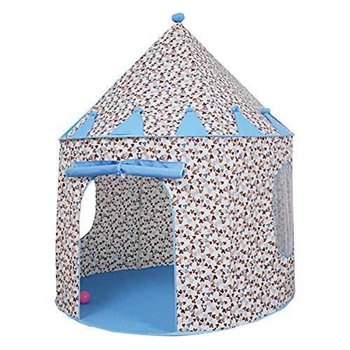 Creative LDF Dream Mickey Castle Zelt, Hochwertiger Baumwollgewebe Mit Dicker Faserstabhalterung, Transparenter FensterlüFtung -
