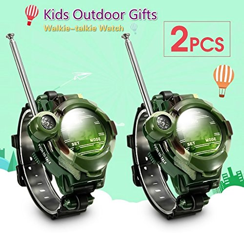 7 In1 Outdoor-Spiele-Video-Walkie-Talkie-Uhr, Formemory Mädchen Jungen Chirldrens Militäruhren für Geschenk.