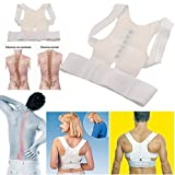 #2: Cpixen Best Deal Men Women Magnetic Posture Support Corrector Back Belt Pain Feel Young Belt Brace Shoulder Chest Belt