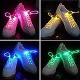 Scarpe Best Deals - Pixnor LED lampeggiante lacci delle scarpe di Shining - 4 pairset (blu verde rosa giallo)