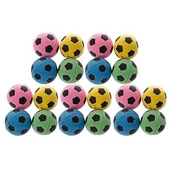 SimpleLife 20pcs Non-Bruit Chat eva Balle Mousse Souple Football Jouer des balles pour Chat gratter Jouet Couleur au Hasard