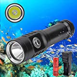 WINDFIRE Tauchen Taschenlampe Unterwasser 100m-3 Modi 1000 Lumen Wasserdicht Submarine Licht LED...