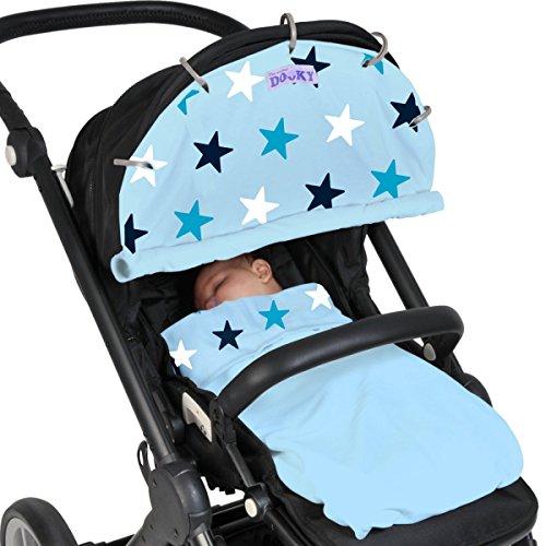 Original Dooky 126609 Sonnenschirm - Stern, blau