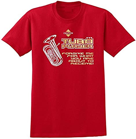 Tuba Forgive Me - Red Rouge T Shirt Taille 87cm 36in Small MusicaliTee