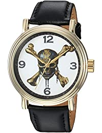 Disney Men's 'Pirates' Quartz Metal Casual Watch, Color:Black (Model: WDS000372)