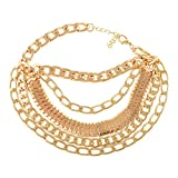 Aaishwarya Chained in Gold Stylish & Trendy Heel Anklet (single) For Women & Girls