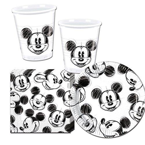 Procos 10115655 Micky Maus und Freunde Partyset Mickey Faces, S