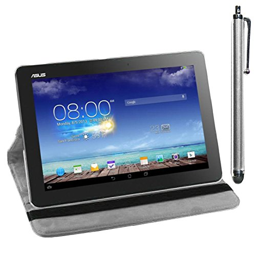 ebestStar - Asus Memo Pad 10 ME103K ME102A Hülle Memo Pad 10 ME103K ME102A Rotierend Schutzhülle Etui, Schutz Hülle Ständer, Rotating Case Cover Stand + Stift, Weiss [Tab: 256 x 174 x 9.9mm, 10.0'']