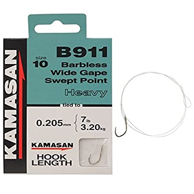 Kamasan Unisex B911 HTN Heavy Fishing Hook Length Heavy Line Size 10